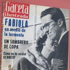 Coleccionismo de Revista Gaceta Ilustrada: GACETA ILUSTRADA REVISTA Nº 226-04-02-1961- FABIOLA EN MEDIO DE LA TORMENTA - KENNEDY COMO ERA . Lote 193641741