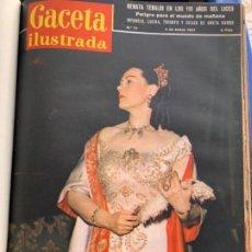 Collectionnisme de Magazine Gaceta Ilustrada: TODAS LAS GACETAS ILUSTRADAS DEL AÑO 1957. Lote 196164982