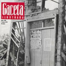 Coleccionismo de Revista Gaceta Ilustrada: REVISTA GACETA Nº 848, 7 ENERO 1973, MANAGUA, MICHEL POLNAREFF, TRUMAN EN PAGINAS INTERIORES. Lote 196958450