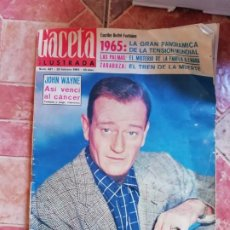 Coleccionismo de Revista Gaceta Ilustrada: ANTIGUA REVISTA LA GACETA ILUSTRADA - JOHN WAYNE 10 FEBRERO DE 1965 Nº 437. Lote 197960477