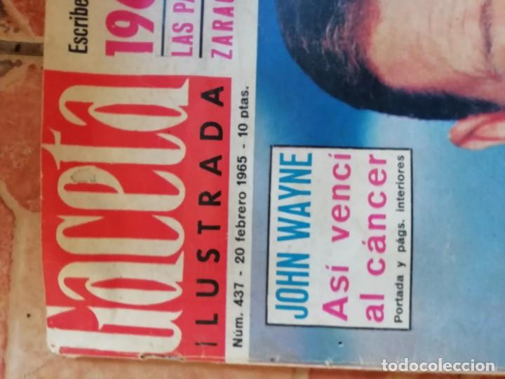 Coleccionismo de Revista Gaceta Ilustrada: Antigua revista la Gaceta Ilustrada - John Wayne 10 Febrero de 1965 Nº 437 - Foto 2 - 197960477