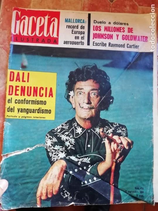 ANTIGUA REVISTA GACETA ILUSTRADA Nº 414 12 SEPTIEMBRE 1964 SALVADOR DALÍ (Coleccionismo - Revistas y Periódicos Modernos (a partir de 1.940) - Revista Gaceta Ilustrada)