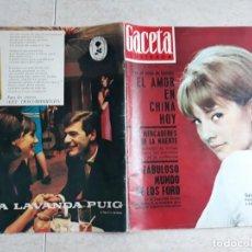 Coleccionismo de Revista Gaceta Ilustrada: GACETA ILUSTRADA 446.AÑO 1965 BODA DE SYLVIE VARTAN Y JOHNNY ETC... Lote 208662153