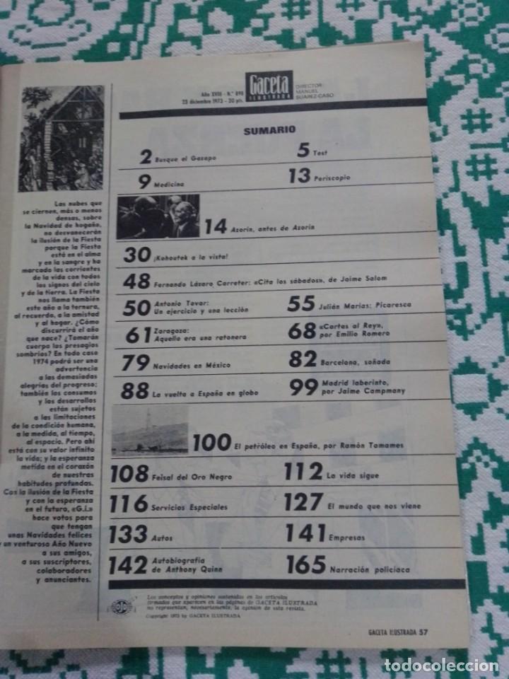 Coleccionismo de Revista Gaceta Ilustrada: Gaceta ilustrada núm. 898 / 23 diciembre1973. Petróleo en España- Rey- - Foto 8 - 198809867