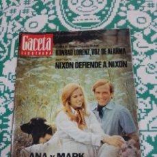 Coleccionismo de Revista Gaceta Ilustrada: REVISTA GACETA ILUSTRADA NÚM. 893 / 18 NOVIEMBRE 1973. KONRAD LORENZ - NIXON - ANA Y MARK - INGMAR B. Lote 198814762