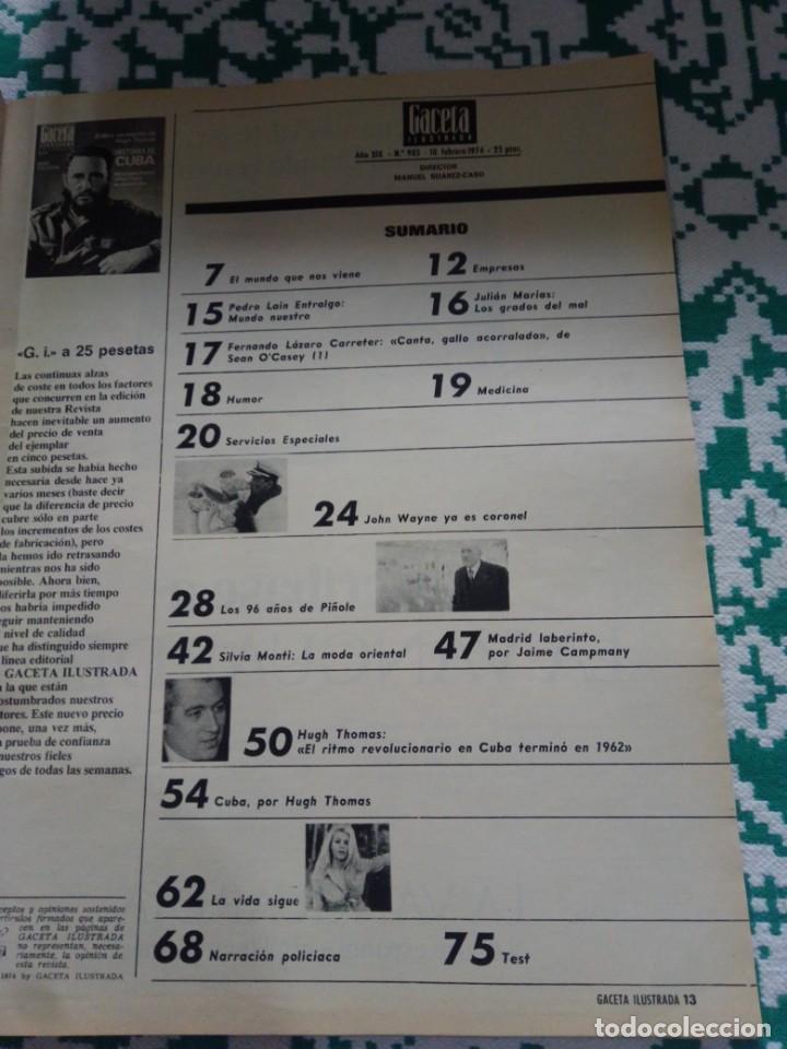 Coleccionismo de Revista Gaceta Ilustrada: Gaceta ilustrada Num. 905, 10 Febrero 1974. - Foto 3 - 161187006