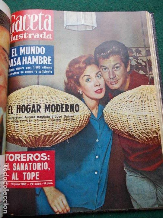 Coleccionismo de Revista Gaceta Ilustrada: LOTE REVISTAS GACETA ILUSTRADA 26 REVISTAS ENCUADERNADAS ENERO -JUNIO DE 1960 - Foto 3 - 201849757