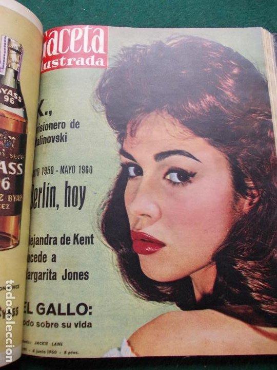 Coleccionismo de Revista Gaceta Ilustrada: LOTE REVISTAS GACETA ILUSTRADA 26 REVISTAS ENCUADERNADAS ENERO -JUNIO DE 1960 - Foto 5 - 201849757