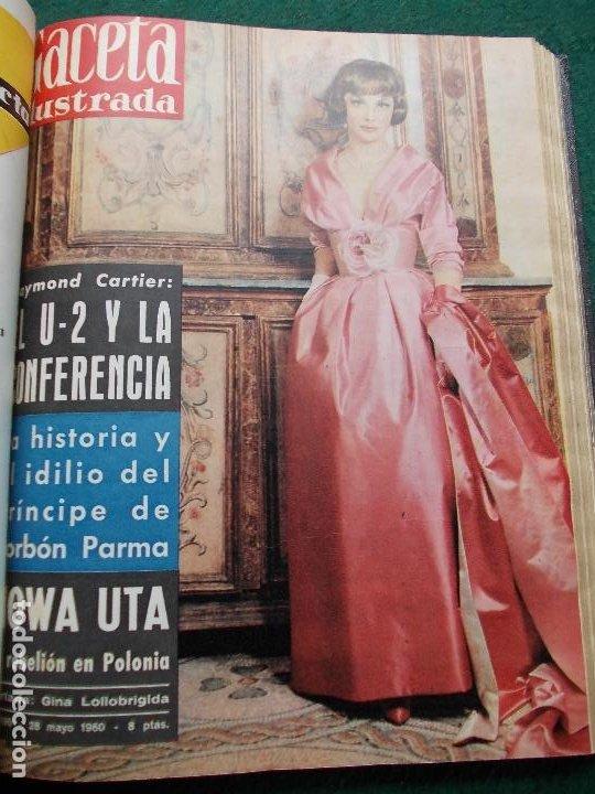 Coleccionismo de Revista Gaceta Ilustrada: LOTE REVISTAS GACETA ILUSTRADA 26 REVISTAS ENCUADERNADAS ENERO -JUNIO DE 1960 - Foto 6 - 201849757