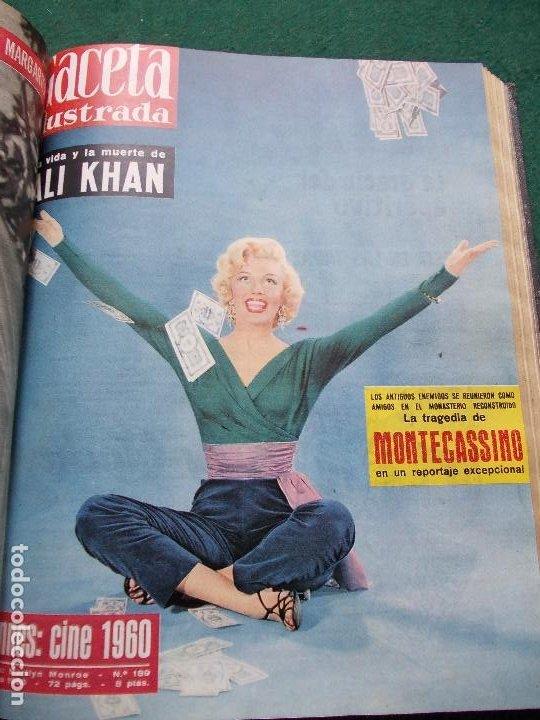 Coleccionismo de Revista Gaceta Ilustrada: LOTE REVISTAS GACETA ILUSTRADA 26 REVISTAS ENCUADERNADAS ENERO -JUNIO DE 1960 - Foto 7 - 201849757