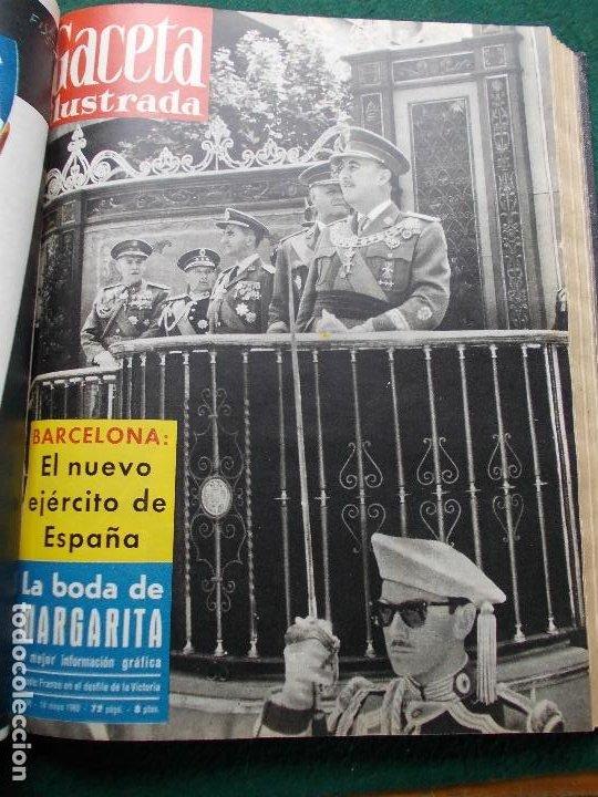 Coleccionismo de Revista Gaceta Ilustrada: LOTE REVISTAS GACETA ILUSTRADA 26 REVISTAS ENCUADERNADAS ENERO -JUNIO DE 1960 - Foto 8 - 201849757