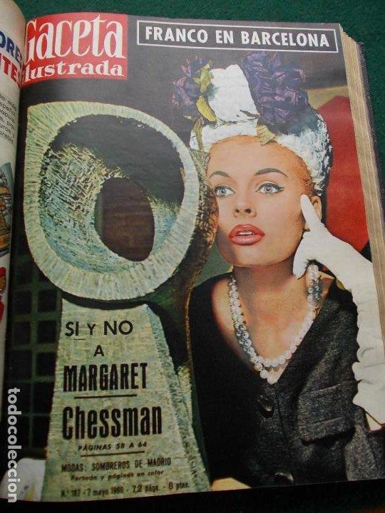 Coleccionismo de Revista Gaceta Ilustrada: LOTE REVISTAS GACETA ILUSTRADA 26 REVISTAS ENCUADERNADAS ENERO -JUNIO DE 1960 - Foto 9 - 201849757