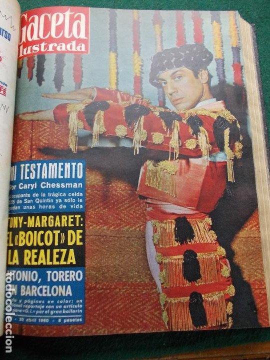 Coleccionismo de Revista Gaceta Ilustrada: LOTE REVISTAS GACETA ILUSTRADA 26 REVISTAS ENCUADERNADAS ENERO -JUNIO DE 1960 - Foto 10 - 201849757