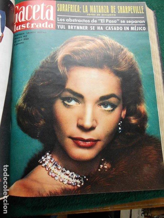 Coleccionismo de Revista Gaceta Ilustrada: LOTE REVISTAS GACETA ILUSTRADA 26 REVISTAS ENCUADERNADAS ENERO -JUNIO DE 1960 - Foto 11 - 201849757