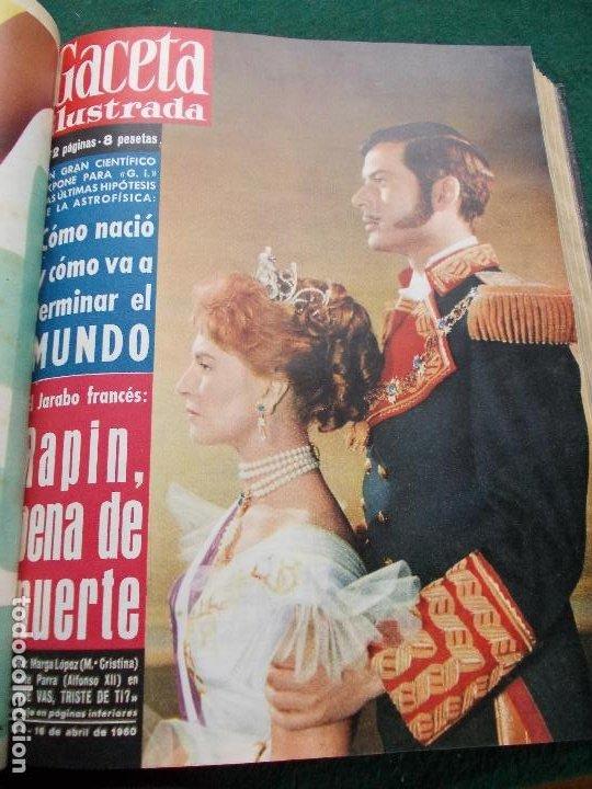 Coleccionismo de Revista Gaceta Ilustrada: LOTE REVISTAS GACETA ILUSTRADA 26 REVISTAS ENCUADERNADAS ENERO -JUNIO DE 1960 - Foto 12 - 201849757