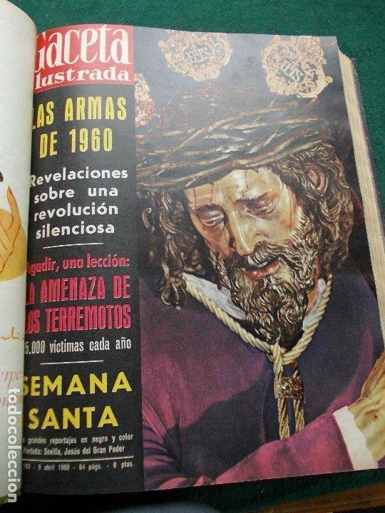 Coleccionismo de Revista Gaceta Ilustrada: LOTE REVISTAS GACETA ILUSTRADA 26 REVISTAS ENCUADERNADAS ENERO -JUNIO DE 1960 - Foto 13 - 201849757