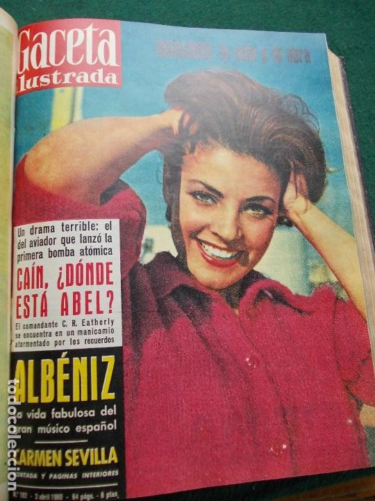 Coleccionismo de Revista Gaceta Ilustrada: LOTE REVISTAS GACETA ILUSTRADA 26 REVISTAS ENCUADERNADAS ENERO -JUNIO DE 1960 - Foto 14 - 201849757