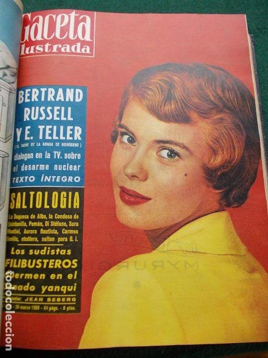 Coleccionismo de Revista Gaceta Ilustrada: LOTE REVISTAS GACETA ILUSTRADA 26 REVISTAS ENCUADERNADAS ENERO -JUNIO DE 1960 - Foto 15 - 201849757