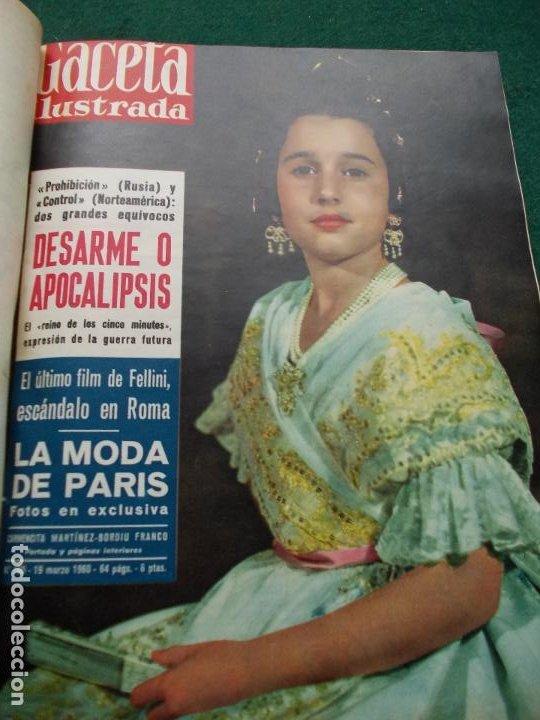 Coleccionismo de Revista Gaceta Ilustrada: LOTE REVISTAS GACETA ILUSTRADA 26 REVISTAS ENCUADERNADAS ENERO -JUNIO DE 1960 - Foto 16 - 201849757