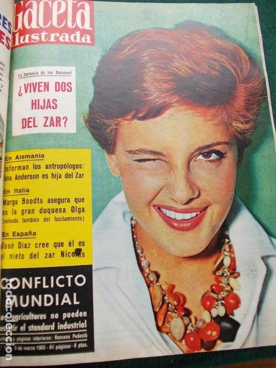 Coleccionismo de Revista Gaceta Ilustrada: LOTE REVISTAS GACETA ILUSTRADA 26 REVISTAS ENCUADERNADAS ENERO -JUNIO DE 1960 - Foto 18 - 201849757