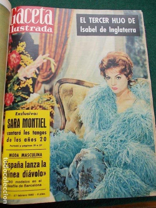 Coleccionismo de Revista Gaceta Ilustrada: LOTE REVISTAS GACETA ILUSTRADA 26 REVISTAS ENCUADERNADAS ENERO -JUNIO DE 1960 - Foto 19 - 201849757