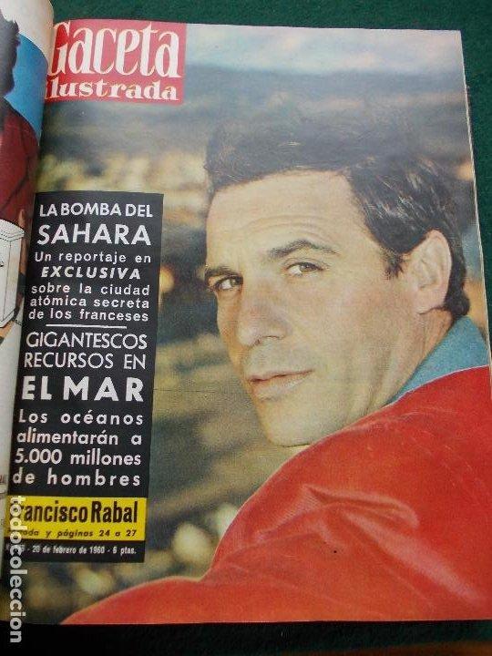 Coleccionismo de Revista Gaceta Ilustrada: LOTE REVISTAS GACETA ILUSTRADA 26 REVISTAS ENCUADERNADAS ENERO -JUNIO DE 1960 - Foto 20 - 201849757