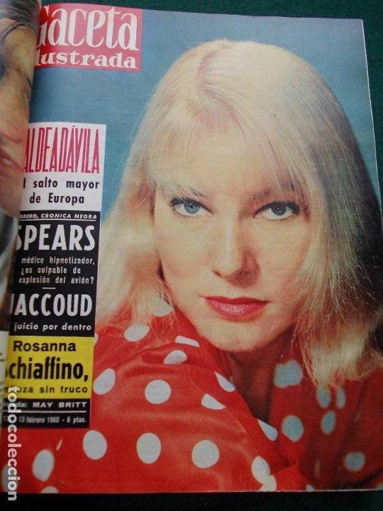 Coleccionismo de Revista Gaceta Ilustrada: LOTE REVISTAS GACETA ILUSTRADA 26 REVISTAS ENCUADERNADAS ENERO -JUNIO DE 1960 - Foto 21 - 201849757