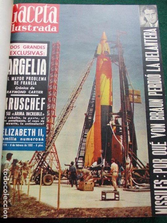 Coleccionismo de Revista Gaceta Ilustrada: LOTE REVISTAS GACETA ILUSTRADA 26 REVISTAS ENCUADERNADAS ENERO -JUNIO DE 1960 - Foto 22 - 201849757