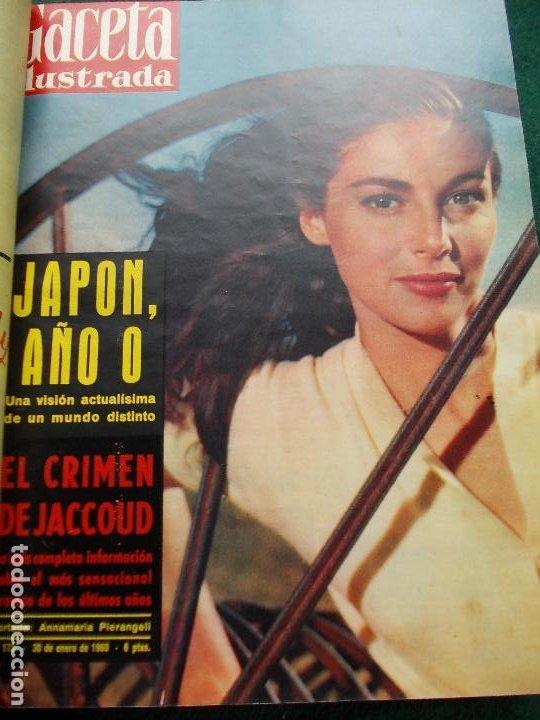 Coleccionismo de Revista Gaceta Ilustrada: LOTE REVISTAS GACETA ILUSTRADA 26 REVISTAS ENCUADERNADAS ENERO -JUNIO DE 1960 - Foto 23 - 201849757