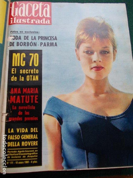 Coleccionismo de Revista Gaceta Ilustrada: LOTE REVISTAS GACETA ILUSTRADA 26 REVISTAS ENCUADERNADAS ENERO -JUNIO DE 1960 - Foto 25 - 201849757