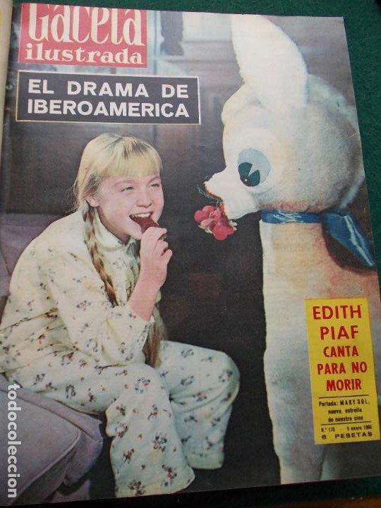 Coleccionismo de Revista Gaceta Ilustrada: LOTE REVISTAS GACETA ILUSTRADA 26 REVISTAS ENCUADERNADAS ENERO -JUNIO DE 1960 - Foto 26 - 201849757