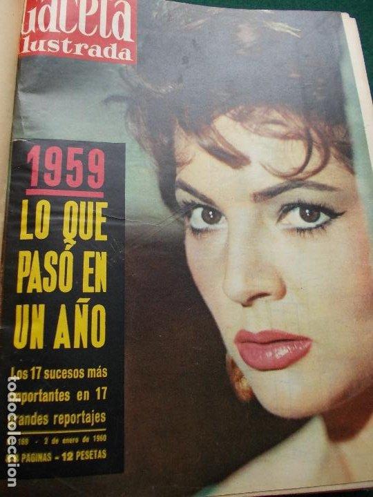LOTE REVISTAS GACETA ILUSTRADA 26 REVISTAS ENCUADERNADAS ENERO -JUNIO DE 1960 (Coleccionismo - Revistas y Periódicos Modernos (a partir de 1.940) - Revista Gaceta Ilustrada)