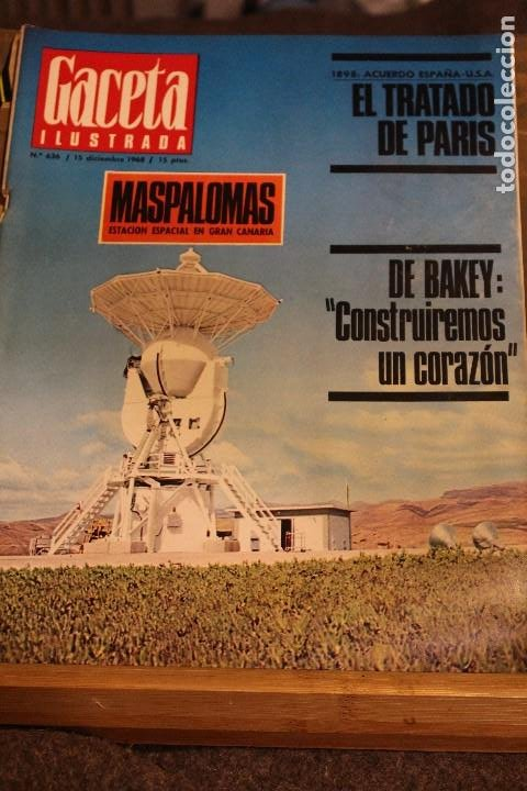 GACETA ILUSTRADA 636 AÑO 1968 MASPALOMAS NUCLEAR CORAZON CHINCHERO EVTUCHENKO KRUPP PARIS JUAN XXIII (Coleccionismo - Revistas y Periódicos Modernos (a partir de 1.940) - Revista Gaceta Ilustrada)