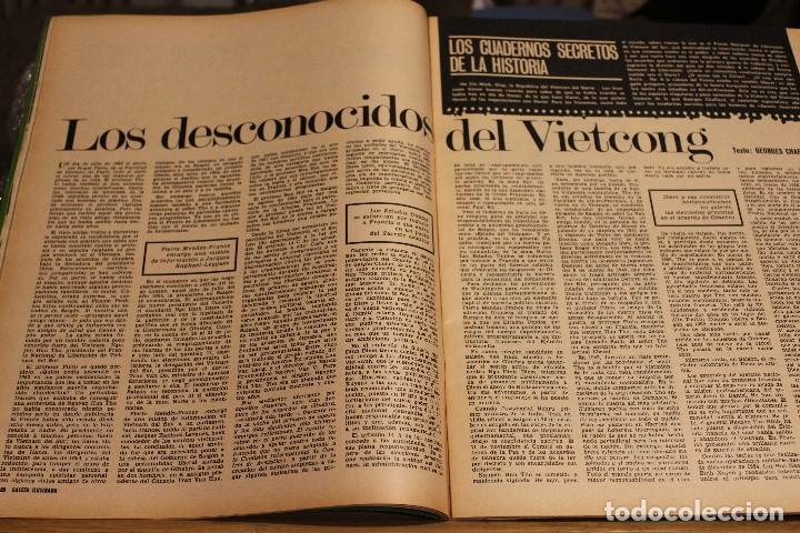 Coleccionismo de Revista Gaceta Ilustrada: GACETA ILUSTRADA 604 AÑO 1968 ELEFANTE VIETNAM ORENSE BISSET SENSORIAL AUGER MAFIA OBESO POLUCION - Foto 11 - 201899592