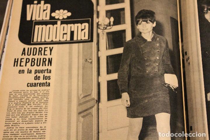 Coleccionismo de Revista Gaceta Ilustrada: GACETA ILUSTRADA 606 AÑO 1968 PARIS MURCIELAGOS HEPBURN ELEFANTES COMUNISTAS DAYAN LINDSAY AVION - Foto 7 - 201901515