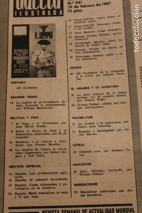 Coleccionismo de Revista Gaceta Ilustrada: GACETA ILUSTRADA 541 AÑO 1967 EL CORDOBES KENNEDY ASTRONAUTAS CHRISTIE GUATEMALA AFRICA RUMANIA - Foto 2 - 202100748
