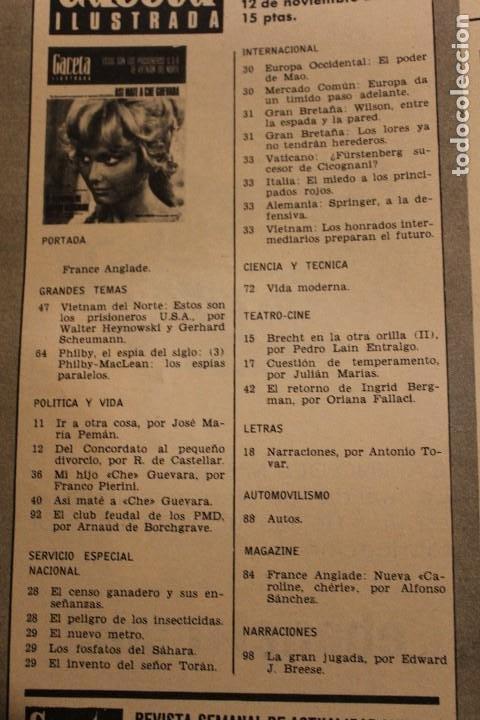 Coleccionismo de Revista Gaceta Ilustrada: GACETA ILUSTRADA 579 AÑO 1967 GUEVARA VIETNAM INGRID BERGMAN ANGLADE DESARROLLO FUMAR PHILBY - Foto 2 - 202108716