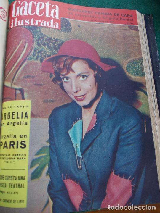 Coleccionismo de Revista Gaceta Ilustrada: LOTE DE REVISTAS GACETA ILUSTRADA DESDE ENERO A JUNIO DE 1.958 ENCUADERNADAS - Foto 6 - 202306140