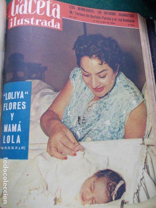 Coleccionismo de Revista Gaceta Ilustrada: LOTE DE REVISTAS GACETA ILUSTRADA DESDE ENERO A JUNIO DE 1.958 ENCUADERNADAS - Foto 7 - 202306140