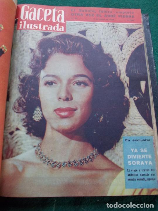Coleccionismo de Revista Gaceta Ilustrada: LOTE DE REVISTAS GACETA ILUSTRADA DESDE ENERO A JUNIO DE 1.958 ENCUADERNADAS - Foto 8 - 202306140