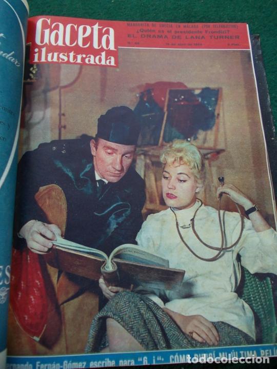 Coleccionismo de Revista Gaceta Ilustrada: LOTE DE REVISTAS GACETA ILUSTRADA DESDE ENERO A JUNIO DE 1.958 ENCUADERNADAS - Foto 10 - 202306140