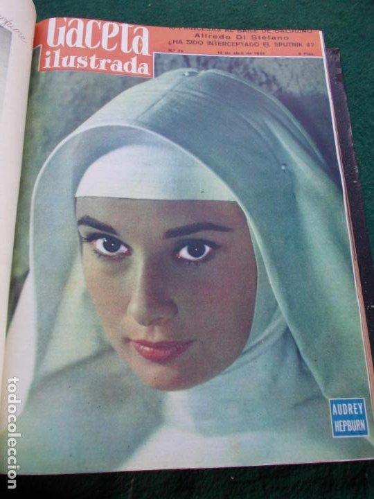 Coleccionismo de Revista Gaceta Ilustrada: LOTE DE REVISTAS GACETA ILUSTRADA DESDE ENERO A JUNIO DE 1.958 ENCUADERNADAS - Foto 11 - 202306140