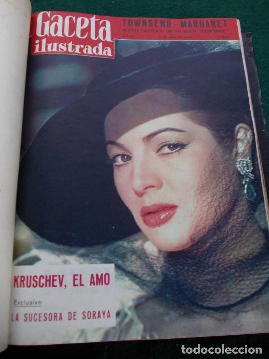 Coleccionismo de Revista Gaceta Ilustrada: LOTE DE REVISTAS GACETA ILUSTRADA DESDE ENERO A JUNIO DE 1.958 ENCUADERNADAS - Foto 12 - 202306140