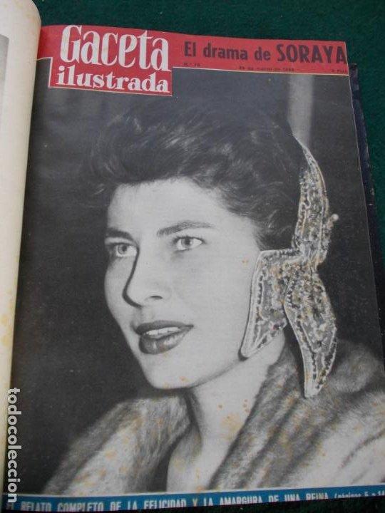 Coleccionismo de Revista Gaceta Ilustrada: LOTE DE REVISTAS GACETA ILUSTRADA DESDE ENERO A JUNIO DE 1.958 ENCUADERNADAS - Foto 14 - 202306140