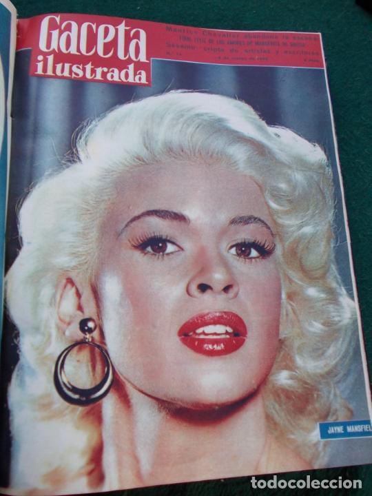 Coleccionismo de Revista Gaceta Ilustrada: LOTE DE REVISTAS GACETA ILUSTRADA DESDE ENERO A JUNIO DE 1.958 ENCUADERNADAS - Foto 16 - 202306140