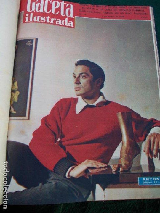 Coleccionismo de Revista Gaceta Ilustrada: LOTE DE REVISTAS GACETA ILUSTRADA DESDE ENERO A JUNIO DE 1.958 ENCUADERNADAS - Foto 17 - 202306140