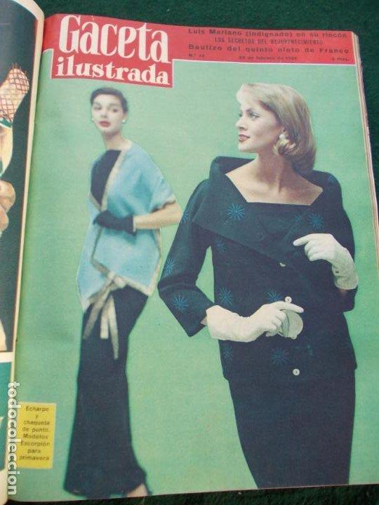 Coleccionismo de Revista Gaceta Ilustrada: LOTE DE REVISTAS GACETA ILUSTRADA DESDE ENERO A JUNIO DE 1.958 ENCUADERNADAS - Foto 18 - 202306140