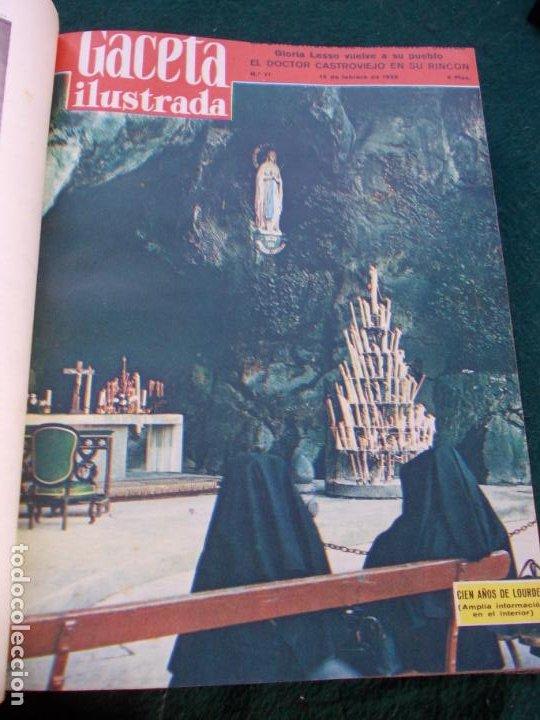 Coleccionismo de Revista Gaceta Ilustrada: LOTE DE REVISTAS GACETA ILUSTRADA DESDE ENERO A JUNIO DE 1.958 ENCUADERNADAS - Foto 19 - 202306140