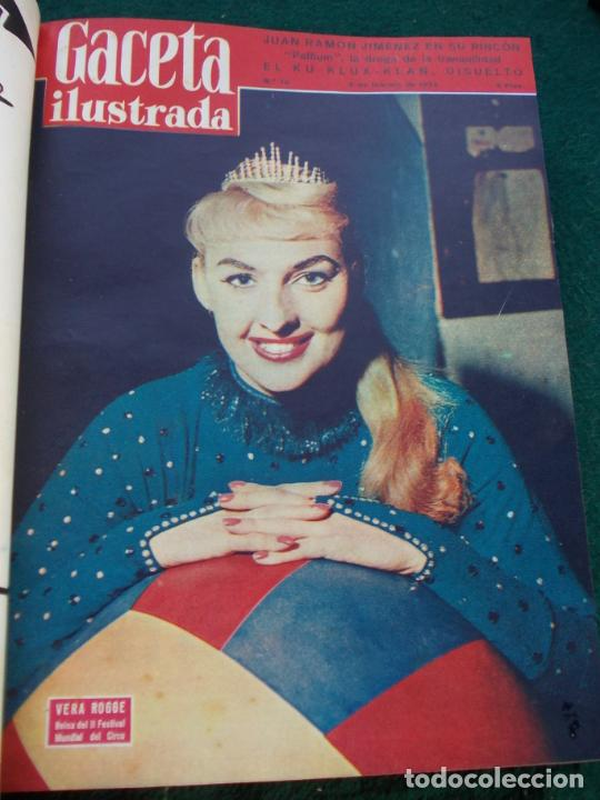 Coleccionismo de Revista Gaceta Ilustrada: LOTE DE REVISTAS GACETA ILUSTRADA DESDE ENERO A JUNIO DE 1.958 ENCUADERNADAS - Foto 20 - 202306140