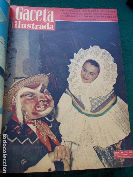 Coleccionismo de Revista Gaceta Ilustrada: LOTE DE REVISTAS GACETA ILUSTRADA DESDE ENERO A JUNIO DE 1.958 ENCUADERNADAS - Foto 23 - 202306140
